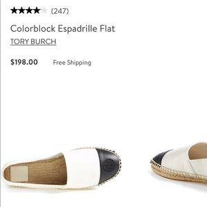 Tory Burch color block espadrille flats
